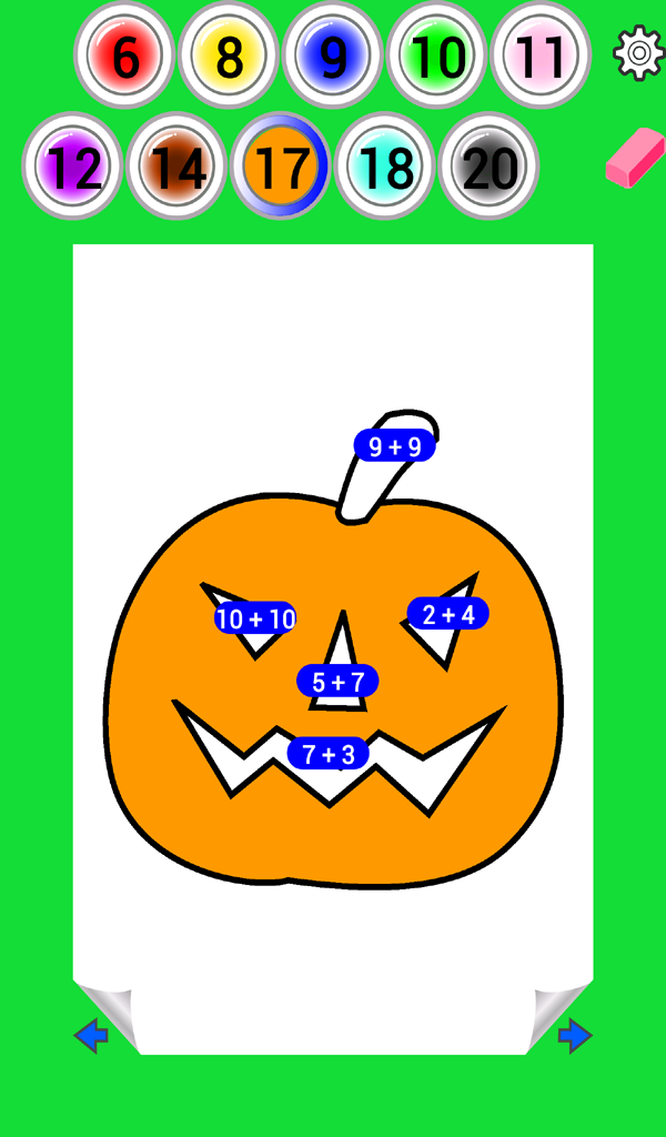 Halloween Math Coloring Book | Bugaboo Math Games